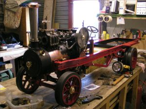 "3"" scale Foden steam wagon under construction"